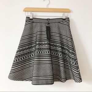 Dynamite jacquard fit and flare aztec mini skirt